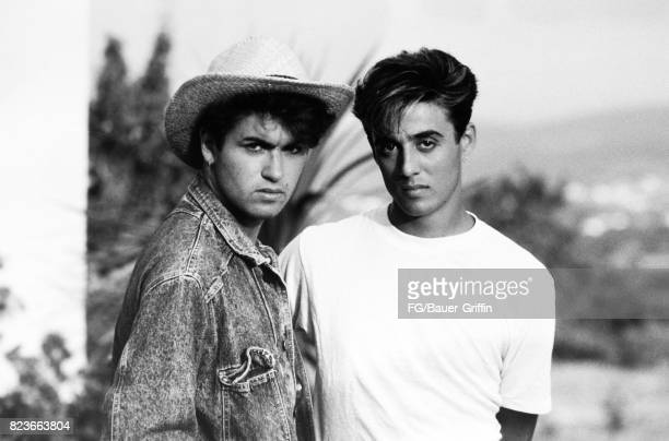 Wham during the recording of Club Tropicana at Pikes Hotel in Ibiza on May 16 1983 in Ibiza Spain 170612F1