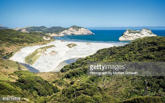 Wharariki Beach, New Zealand : Stock Photo