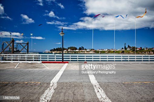 Wharf in Santa Cruz : Stock Photo