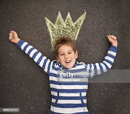 What a cute prince : Stock Photo