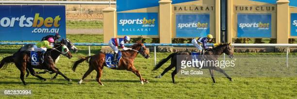 What a Shock ridden by Damian Lane wins Sportsbet's New Racing Form Class 1 Handicap at SportsbetBallarat Racecourse on May 14 2017 in Ballarat...