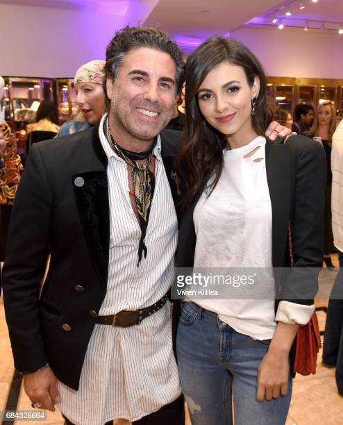 What Goes Around Comes Around CoFounder Gerard Maione and Singer/actress Victoria Justice attend the Pirates of the Caribbean special event at What...