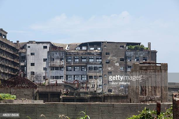 What is left of Hashima's hostpital that was once equipped to handle any emergency on July 16 2015 in Nagasaki Japan Hashima aka Battleship Island...