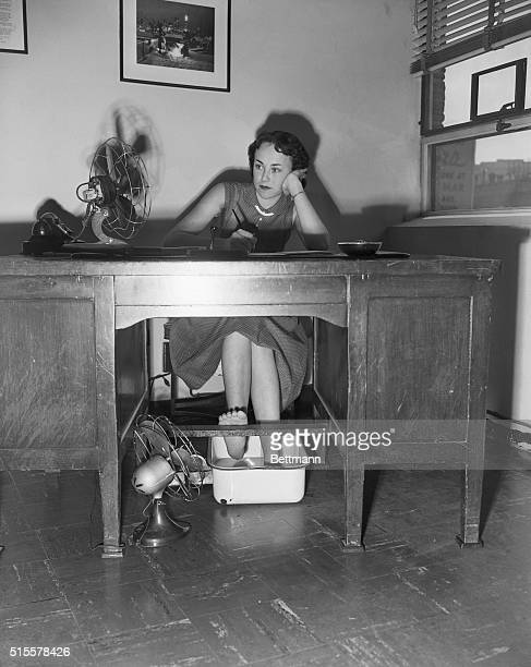 8/16/51 DALLAS TEXAS What the welldressed Texas gal will wear during the current heat wave might be something quite novel Here Dallas secretary...