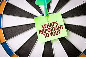 Whats Important To You? dartboard