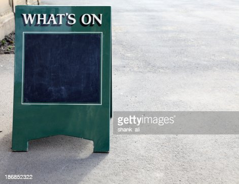'What's on ' sandwich board