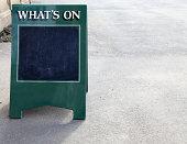'What's on ' sandwich board