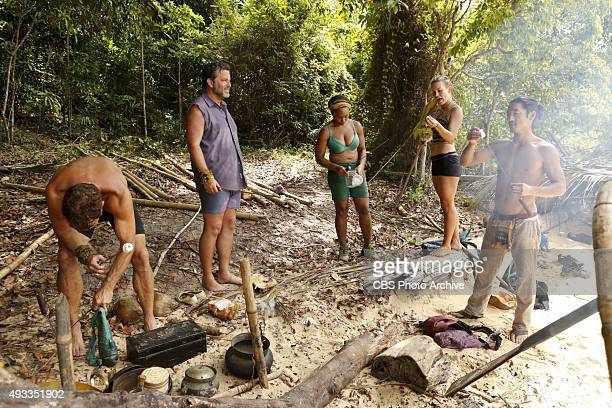 'What's the Beef' Andrew Savage Jeff Varner Tasha Fox AbiMaria Gomes and Woo Hwang during the fourth episode of SURVIVOR Wednesday Oct 14 The new...