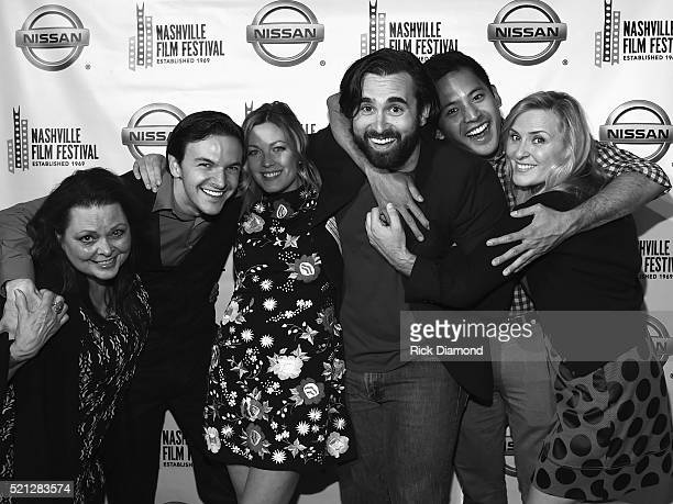 'What's the Matter with Gerald' Actors Kathy Cash Jonathan Everett Emily Todoran Jacob York Daniel Chioco and Claudia Church attend the 2016...