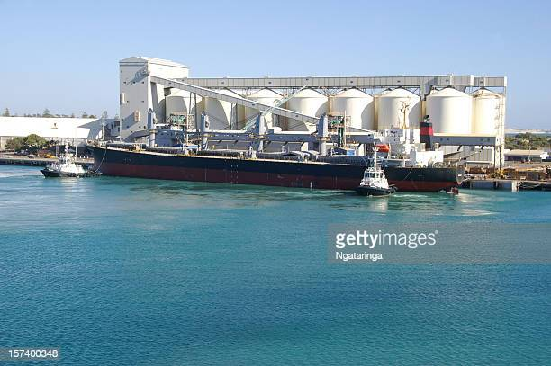 Wheat bulk ship