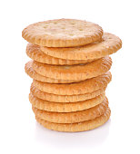 Wheat Crackers on white background