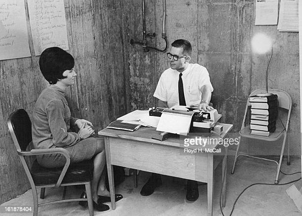 OCT 3 1969 OCT 8 1969 Wheat Ridge City Government in Rough Quarters These photos show the Wheat Ridge City Hall operating in the basement of the...