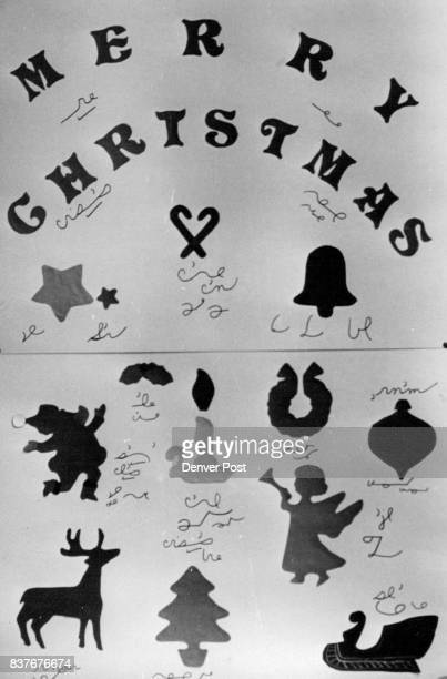 Wheat Ridge High Shorthand Students have their own way of wishing a Merry Christmas Card Shows symbols Credit Denver Post
