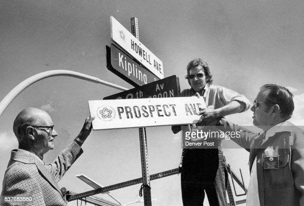 Wheat Ridge Revives Former Names Of Streets For Centennial Project Former Postmaster Ted Erickson left provided the idea John Runiks and Clyde E...