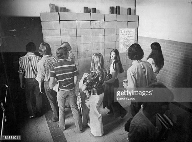 MAY 22 1974 Wheat Ridge Seniors Have Their Day The northeast wing of Wheat Ridge High School 9505 W 32nd Ave Which houses math and science classrooms...