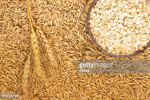 Wheat; Sprig wheat and ground oats : Foto de stock