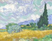 A Wheatfield with Cypresses 1889 Found in the collection of the National Gallery London