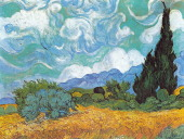 Wheatfield with Cypresses 1889 Vincent van Gogh