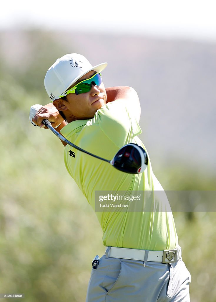 Whee Kim of Korea plays his shot from the second tee during the first round of the Barracuda Championship at the Montreux Golf and Country Club on June 30, 2016 in Reno, Nevada.