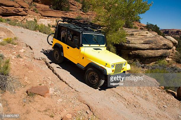 Vierradantrieb Jeep auf rustikalen Road