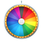 Lucky spin represent the wheel of fortune concept.