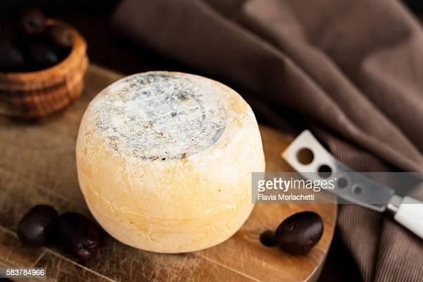 Wheel of artisanal cheese
