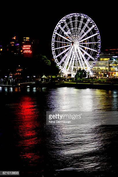 Wheel of Brisbane at night