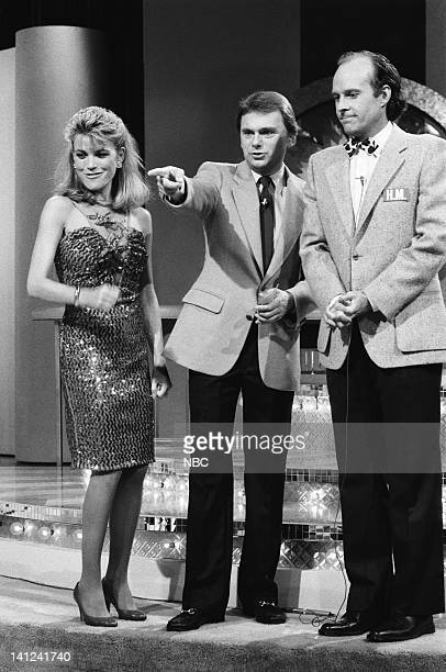 TEAM 'Wheel of Fortune' Episode 8 Pictured Vanna White as herself Pat Sajak as himself Dwight Schultz as 'Howling Mad' Murdock Photo by NBCU Photo...
