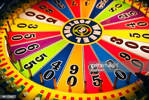 Wheel of fortune game in an arcade