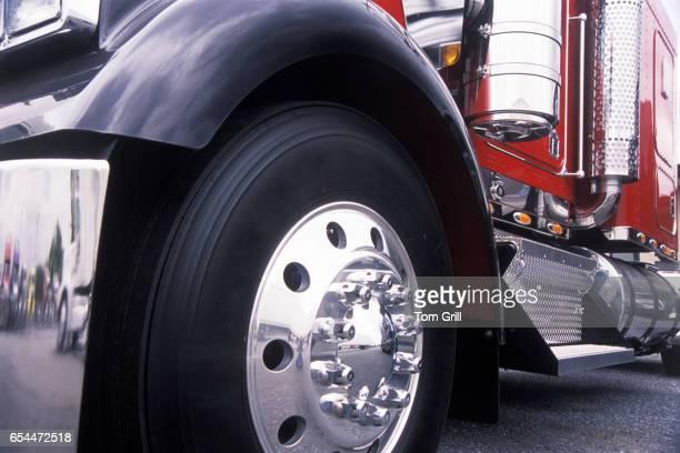 Wheel of Semitruck