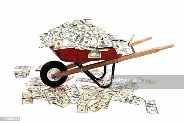 Carretilla lleno de dinero
