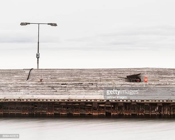 Wheelbarrow on concrete structure