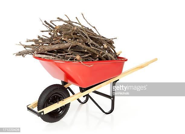 Wheelbarrow With Branches