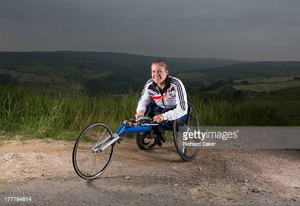 Wheelchair athlete specialising in sprint distances Hannah Cockroft is photographed for the Observer on June 11 2013 in Halifax England
