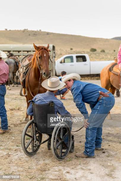 Cavalier de fauteuil roulant