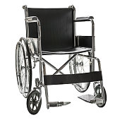 Wheelchair for patient in hospital or handicapped isolated on white background with clipping path