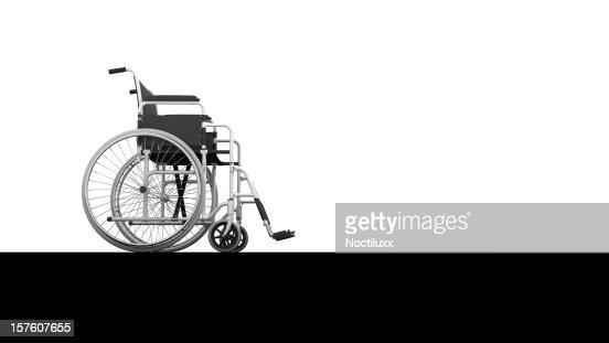 Wheelchair profile view : Bildbanksbilder
