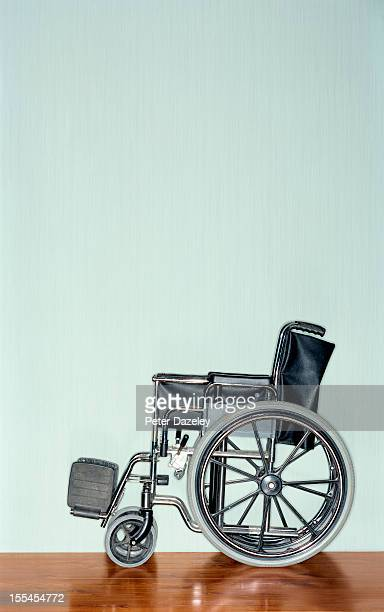 Wheelchair with copy space