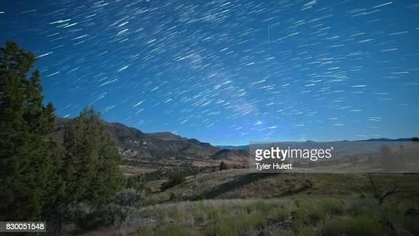 Wheeler County Milky Way Night Sky Star Trails Over Oregon