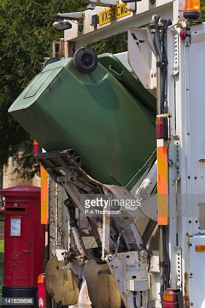 Wheelie Bin being emptied, England