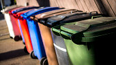 Wheelie Bins for Recycled Rubbish