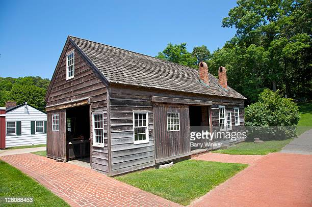 Wheelwright and blacksmith shop built by Samuel Harvey West, c.1893, in East Setauket, The Long Island Museum of American Art, History and Carriages, formerly The Museums at Stony Brook, Stony Brook, NY, U.S.A.