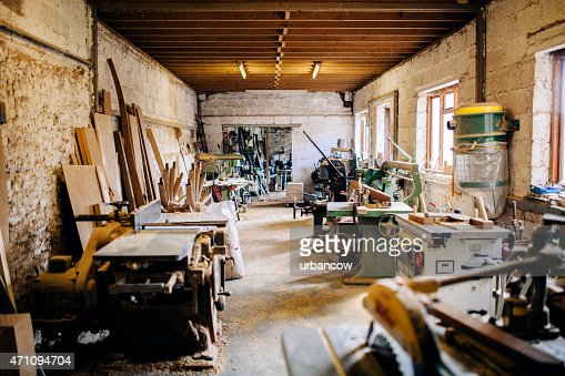 Wheelwright's workshop, carpentry tools and machinery