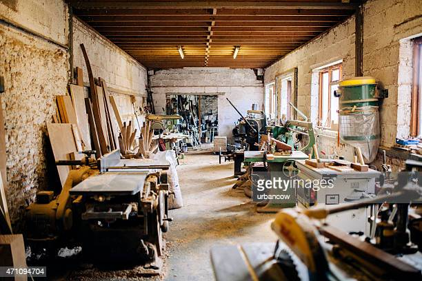 Wheelwright s'atelier, les outils de menuiserie et machines