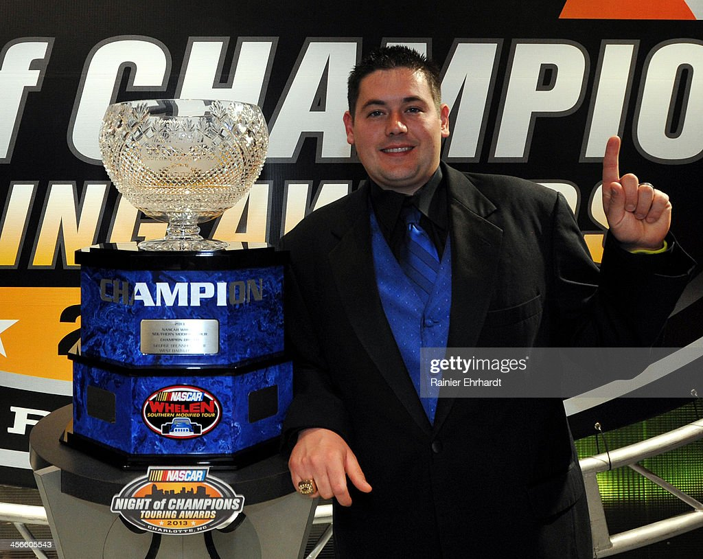 Whelen Southern Modified Tour champion George Brunnhoelzl III poses for a portrait during the NASCAR Night of Champions at Charlotte Convention Center on December 14, 2013 in Charlotte, North Carolina.