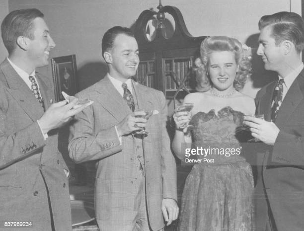 When a debutante reaches 21 years of age it's time to celebrate with sparkling drink and lots of friends wishing her happy returns Miss Mitten Howell...