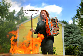 When chef Mary Dumont goes on vacation she takes a metal rake that she toasts marshmallows on and a bag of firestarter chips that can be used in the...