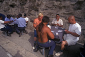 When in the yard convicts at Old Folsom State Prison form groups with members of their own races mainly for protection Folsom State Prison in...