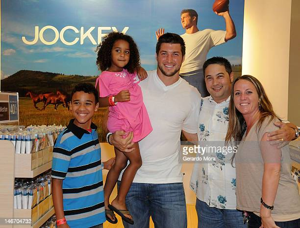 When inclement weather cancelled the second fashion show Jockey and Tim Tebow surprised fans with a private reception where Tim posed for photos with...