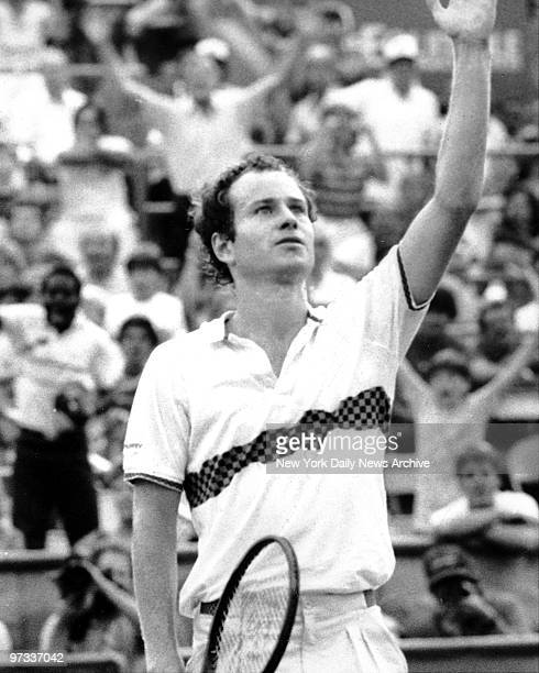 When it was over John McEnroe looked like a relieved winner at US Open match against Shlomo Glickstein of Israel